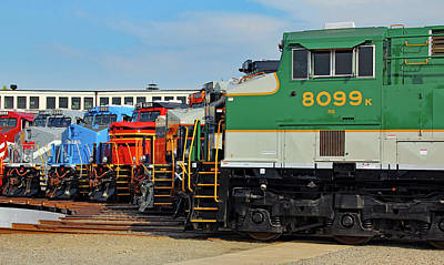 Photograph - Ns Heritage Locomotives Family Photographs 8099 Day 11 by Joseph C Hinson Photography