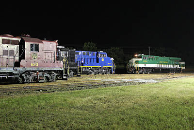 Photograph - Ns Heritage Locomotives Family Photographs 8099 Night 10 by Joseph C Hinson Photography