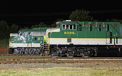 Photograph - Ns Heritage Locomotives Family Photographs 8099 Night 23 by Joseph C Hinson Photography