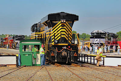 Photograph - Ns Heritage Locomotives Family Photographs 8100 Day 12 A by Joseph C Hinson Photography
