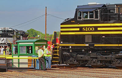 Photograph - Ns Heritage Locomotives Family Photographs 8100 Day 12 by Joseph C Hinson Photography