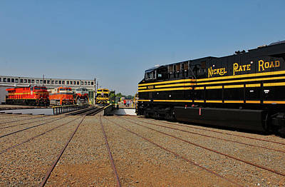 Photograph - Ns Heritage Locomotives Family Photographs 8100 Day 32 by Joseph C Hinson Photography