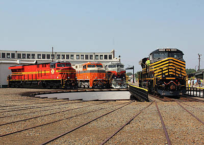 Photograph - Ns Heritage Locomotives Family Photographs 8100 M by Joseph C Hinson Photography