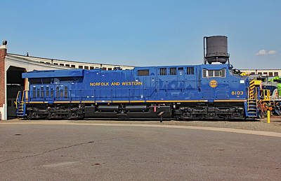 Photograph - Ns Heritage Locomotives Family Photographs 8103 Day 13 by Joseph C Hinson Photography