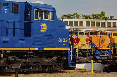Photograph - Ns Heritage Locomotives Family Photographs 8103 Day V by Joseph C Hinson Photography