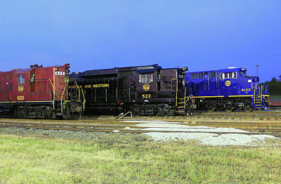 Photograph - Ns Heritage Locomotives Family Photographs 8103 Night 22 by Joseph C Hinson Photography