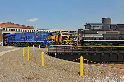 Photograph - Ns Heritage Locomotives Family Photographs 8103day 25 by Joseph C Hinson Photography