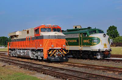 Photograph - Ns Heritage Locomotives Family Photographs 8105 V 2 by Joseph C Hinson Photography