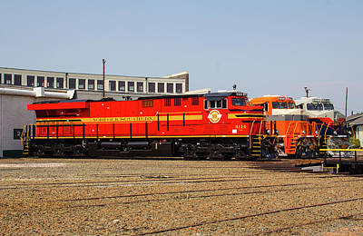 Photograph - Ns Heritage Locomotives Family Photographs 8114 D by Joseph C Hinson Photography