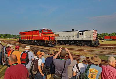 Photograph - Ns Heritage Locomotives Family Photographs 8114 J by Joseph C Hinson Photography