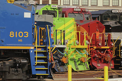 Photograph - Ns Heritage Locomotives Family Photographs Day 1072 K  by Joseph C Hinson Photography