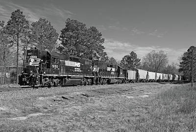 Photograph - Norfolk Southern P77 In Black And White by Joseph C Hinson Photography