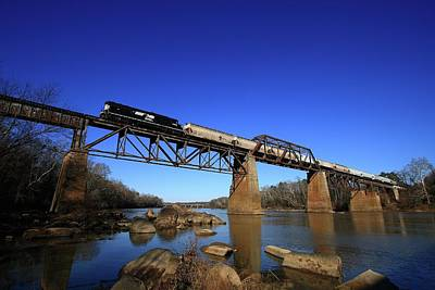 Photograph - Ns Train Crossing The Congaree by Joseph C Hinson Photography