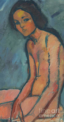 Painting - Nu Assis  Detail by Amedeo Modigliani