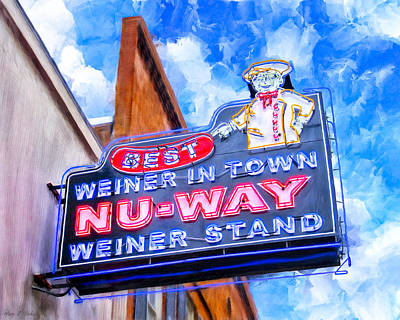 Nu-way Weiners - Landmark Macon Georgia Print by Mark Tisdale