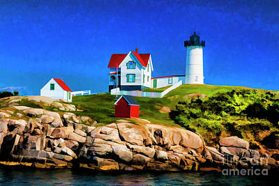 Photograph - Nubble 09 by Rick Bragan