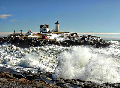 Photograph - Nubble After A Storm by Marcia Lee Jones