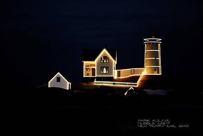 Photograph - Nubble At Christmas by Mark Alesse