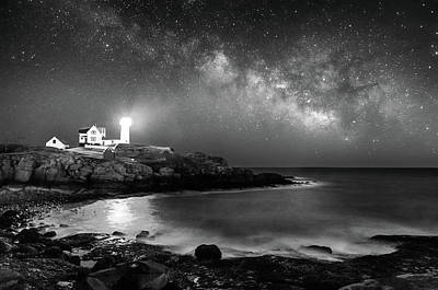 Photograph - Nubble At Night by Jatinkumar Thakkar