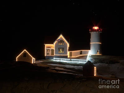 Photograph - Nubble At Night by Patrick Fennell