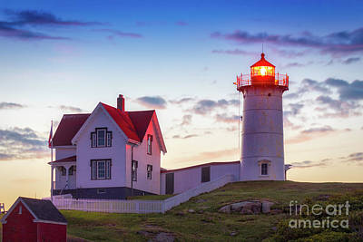 Photograph - Nubble Early Morning by Jerry Fornarotto