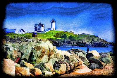 Digital Art - Nubble Green by Rick Bragan