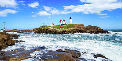 Photograph - Nubble Light 1x2 by Robert Clifford