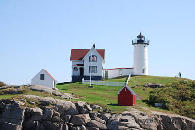 Nubble Light Art Print by Armand Hebert