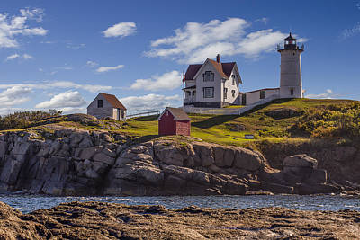 Nubble Light Art Print by Capt Gerry Hare