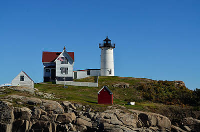 Photograph - Nubble Lighthouse In Ogunquit  by Richard Ortolano