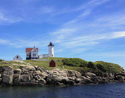 Art Print featuring the photograph Nubble Light House by Linda Constant