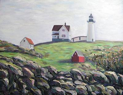 Nubble Light House Print by Richard Nowak