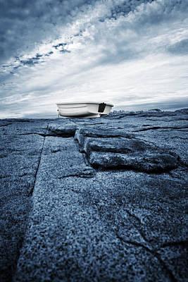 Photograph - Nubble Light Rowboat by Luke Moore