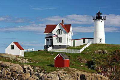 Photograph - Nubble Lighthouse - D002365 by Daniel Dempster