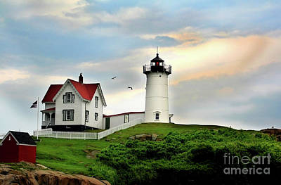 Art Print featuring the photograph Nubble Lighthouse by Adrian LaRoque