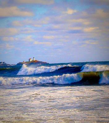 Photograph - Nubble Lighthouse by Anne Sands