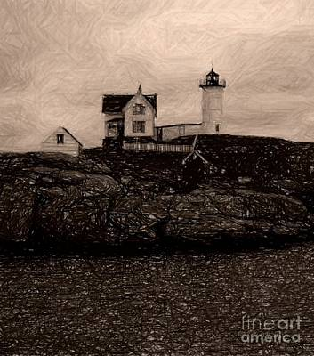 Photograph - Nubble Lighthouse by Donna Cavanaugh