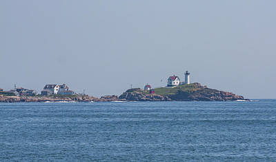 Photograph - Nubble Lighthouse From Long Sands Beach by Brian MacLean