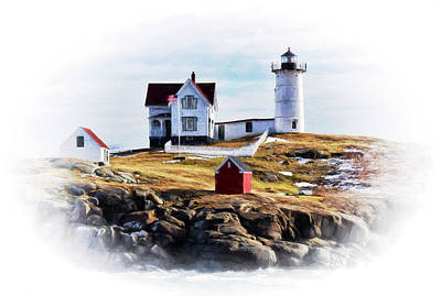 Photograph - Nubble Lighthouse In Maine by Tricia Marchlik
