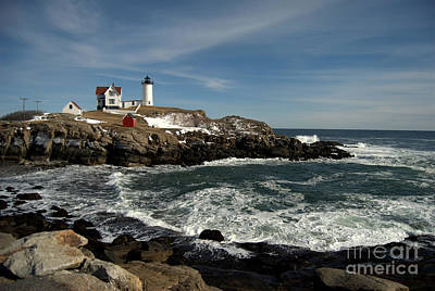 Photograph - Nubble Lighthouse In Winter by Eunice Miller