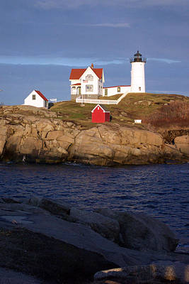 Photograph - Nubble Lighthouse  Maine by Linda Drown