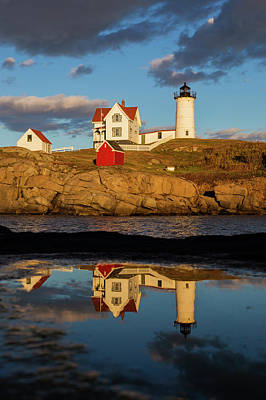 Nubble Lighthouse Art Print by Mircea Costina Photography