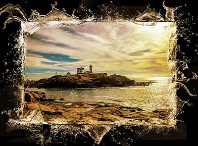 Photograph - Nubble Lighthouse  by Sherman Perry
