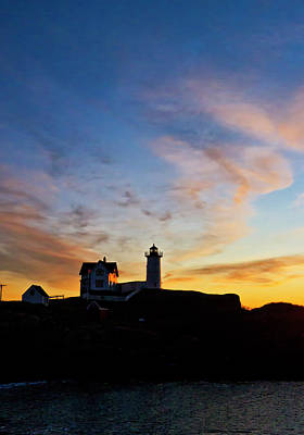 Photograph - Nubble Lighthouse Sunrise 3 by Steven Ralser