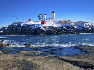 Photograph - Nubble Lighthouse -winter 2015 by Steven Ralser