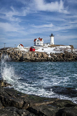 Nubble Lighthouse Winter Art Print