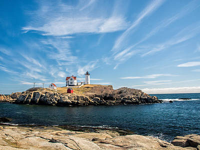 Photograph - Nubble Lighthouse With Dramatic Clouds by Nancy De Flon