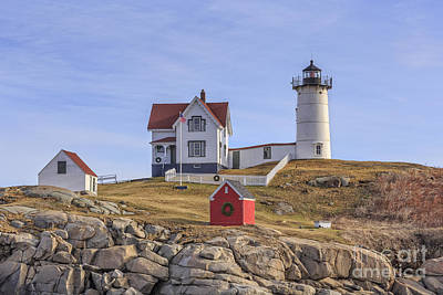 Photograph - Nubble Lighthouse York Maine by Edward Fielding