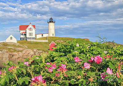 Photograph - Nubble Lighthouse York Maine by Elizabeth Dow