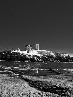 Photograph - Nubble Lighthouse - York - Maine by Steven Ralser